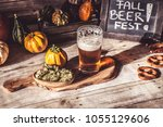 craft beer flight  halloween... | Shutterstock . vector #1055129606