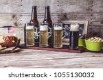 american craft beer | Shutterstock . vector #1055130032
