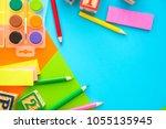 water color plastic toy block... | Shutterstock . vector #1055135945