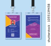modern creative id card design...   Shutterstock .eps vector #1055139458