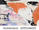 a torn vintage poster detail  ... | Shutterstock . vector #1055146625