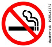 no smoking sign isolated on... | Shutterstock . vector #1055163872