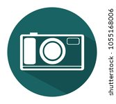 flat camera icon. white line... | Shutterstock .eps vector #1055168006