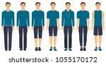 young man standing in full... | Shutterstock .eps vector #1055170172