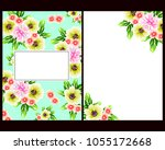invitation with floral...   Shutterstock . vector #1055172668