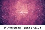 abstract purple light geometric ... | Shutterstock .eps vector #1055173175