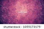 abstract purple light geometric ... | Shutterstock .eps vector #1055173175