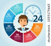 round color infografic with man ... | Shutterstock .eps vector #1055175665
