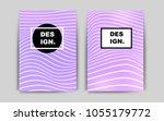 light purple vector brochure...
