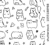 seamless pattern with funny... | Shutterstock .eps vector #1055188988