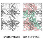 illustration with labyrinth ... | Shutterstock .eps vector #1055191958