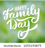 happy family day  typography ... | Shutterstock .eps vector #1055193875