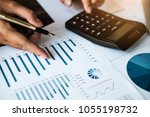 accounting concept. close up... | Shutterstock . vector #1055198732