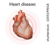 heart diseases. heart muscle.... | Shutterstock .eps vector #1055199818
