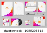 corporate identity.... | Shutterstock .eps vector #1055205518