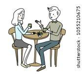 lovely couple spending good... | Shutterstock .eps vector #1055210675