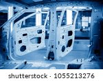 modern automobile production... | Shutterstock . vector #1055213276