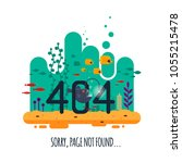 404 error page not found... | Shutterstock .eps vector #1055215478