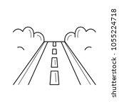 highway road vector line icon... | Shutterstock .eps vector #1055224718