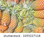 abstract photo of pineapples... | Shutterstock . vector #1055227118