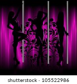girls dancing the night | Shutterstock .eps vector #105522986