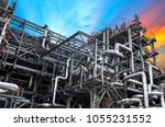 close up industrial view at oil ... | Shutterstock . vector #1055231552