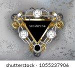 triangular industrial banner... | Shutterstock .eps vector #1055237906
