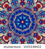 vector symmetrical pattern in... | Shutterstock .eps vector #1055238422
