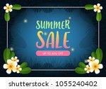 summer sale background ... | Shutterstock .eps vector #1055240402