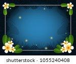 summer night background.... | Shutterstock .eps vector #1055240408