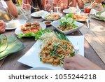 thai food papaya salad  som tam ... | Shutterstock . vector #1055244218