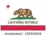 crumple flag of california... | Shutterstock . vector #105524546