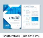 annual report  broshure  flyer  ... | Shutterstock .eps vector #1055246198