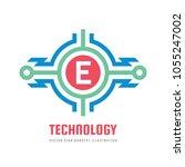 technology letter e   vector...   Shutterstock .eps vector #1055247002