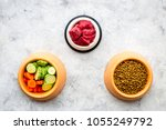 dry pet food with natural... | Shutterstock . vector #1055249792