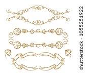 vector decorative elements set. ... | Shutterstock .eps vector #1055251922