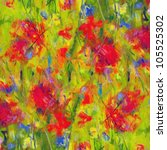 Flowers  Digitally Processed.