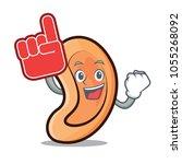 foam finger ear mascot cartoon...   Shutterstock .eps vector #1055268092