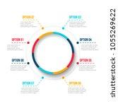 business data visualization.... | Shutterstock .eps vector #1055269622