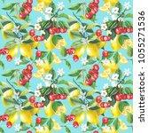 seamless watercolor... | Shutterstock . vector #1055271536