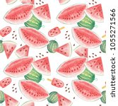 seamless pattern with... | Shutterstock . vector #1055271566