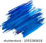 blue watercolor texture paint... | Shutterstock .eps vector #1055280818