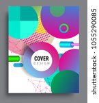 abstract geometric pattern... | Shutterstock .eps vector #1055290085