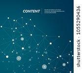 graphic modern communication... | Shutterstock .eps vector #1055290436