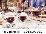 wine tasting in the restaurant | Shutterstock . vector #1055291012