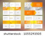brochure set tri fold and...   Shutterstock .eps vector #1055293505