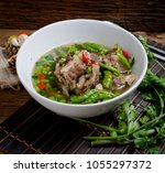 most popular food in thailand... | Shutterstock . vector #1055297372
