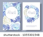 vector botanical banners with... | Shutterstock .eps vector #1055301548