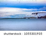 900 km from north pole. franz... | Shutterstock . vector #1055301935