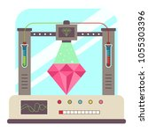 laboratory grown diamond. 3d... | Shutterstock .eps vector #1055303396
